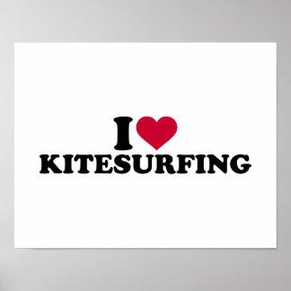 I love Kitesurfing Poster