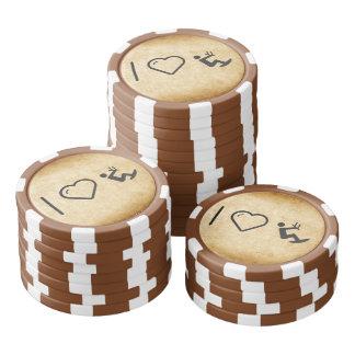 I Love Kitesurfings Set Of Poker Chips