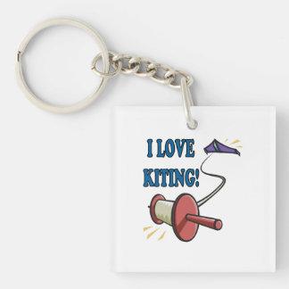 I Love Kiting Keychain