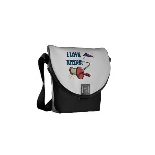 I Love Kiting Messenger Bag