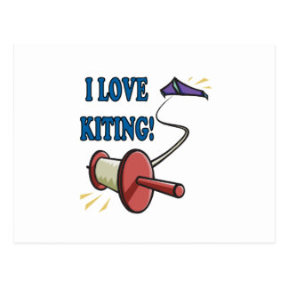 I Love Kiting Postcard