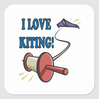 I Love Kiting Square Sticker