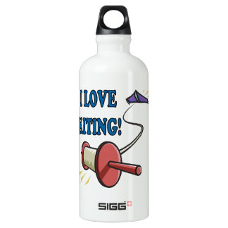 I Love Kiting Water Bottle