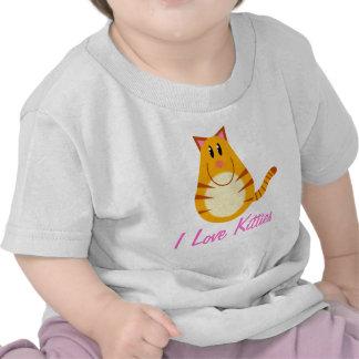 I Love Kitties Tabby Cat Cartoon Infant Tee shirt