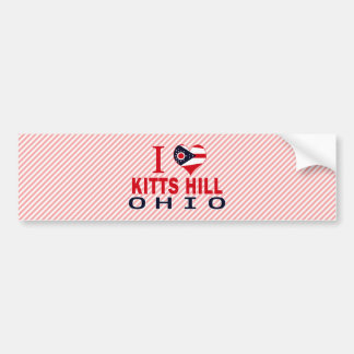 I love Kitts Hill, Ohio Car Bumper Sticker