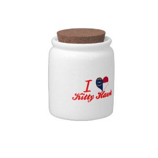 I Love Kitty Hawk North Carolina Candy Jars