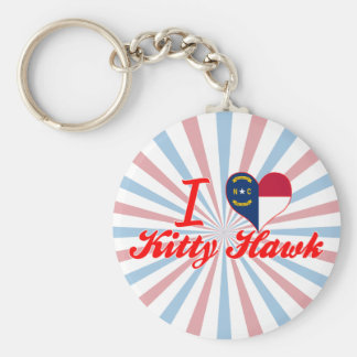 I Love Kitty Hawk North Carolina Key Chains
