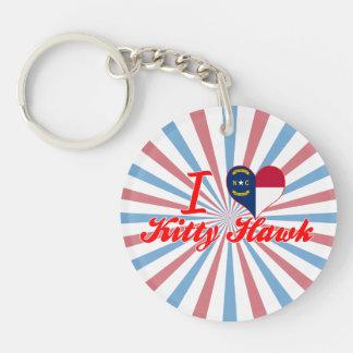 I Love Kitty Hawk North Carolina Key Chain