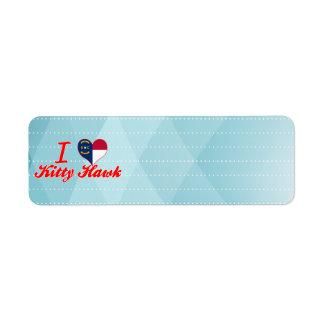 I Love Kitty Hawk North Carolina Return Address Labels