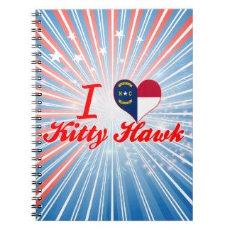 I Love Kitty Hawk North Carolina Notebooks