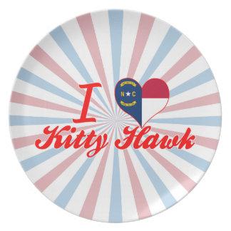 I Love Kitty Hawk North Carolina Party Plates