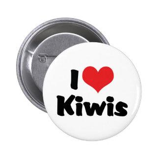 I Love Kiwis 2 Inch Round Button