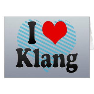 I Love Klang, Malaysia Greeting Card