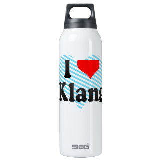 I Love Klang, Malaysia Thermos Water Bottle