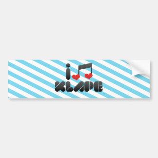 I Love Klape Bumper Sticker