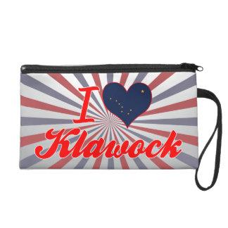 I Love Klawock, Alaska Wristlet Clutch