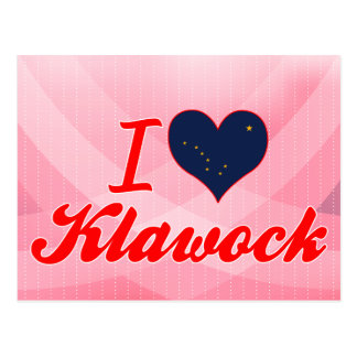 I Love Klawock, Alaska Postcard