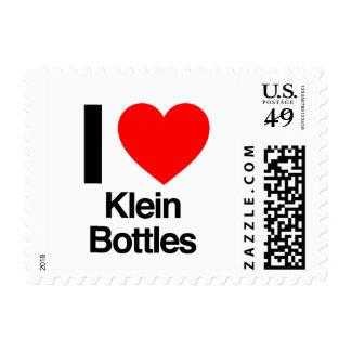 i love klein bottles postage stamp