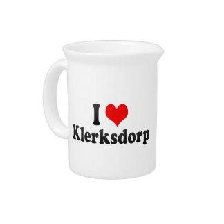 I Love Klerksdorp, South Africa Beverage Pitcher