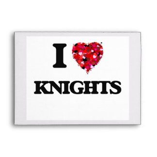 I love Knights Envelope