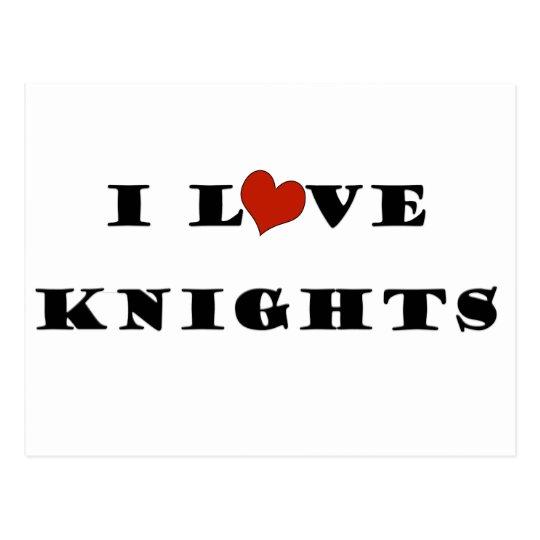 I Love Knights Postcard