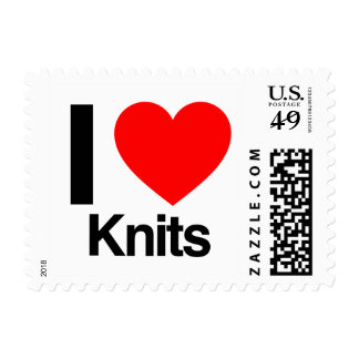i love knits postage stamps
