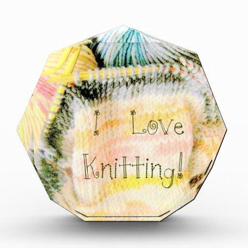 I Love Knitting Awesome Design Yarn Needles Acrylic Award