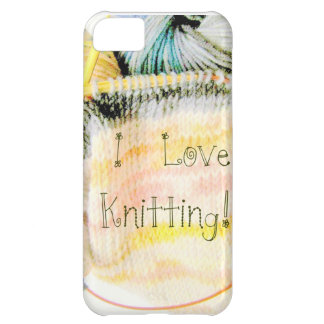 I Love Knitting Awesome Design Yarn Needles Case For iPhone 5C
