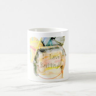 I Love Knitting Awesome Design Yarn Needles Coffee Mug