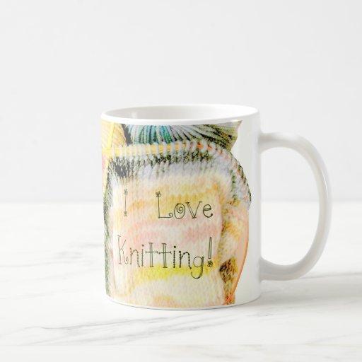 I Love Knitting Awesome Design Yarn Needles Mug