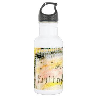 I Love Knitting Awesome Design Yarn Needles 18oz Water Bottle