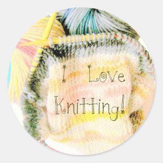 I Love Knitting Awesome Design Yarn Needles Sticker