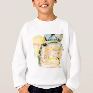 I Love Knitting Awesome Design Yarn Needles Sweatshirt
