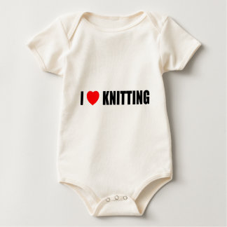 I Love Knitting Baby Bodysuit