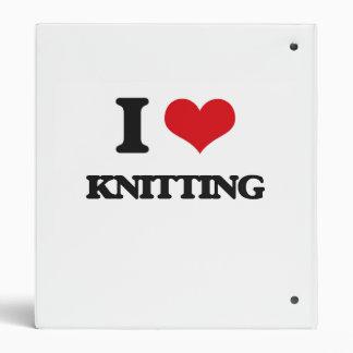 I Love Knitting 3 Ring Binders