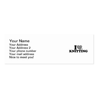 I love knitting Double-Sided mini business cards (Pack of 20)