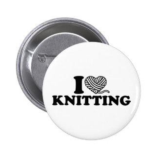 I love knitting 2 inch round button