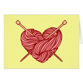 I Love Knitting Greeting Card