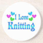 I Love Knitting Drink Coasters