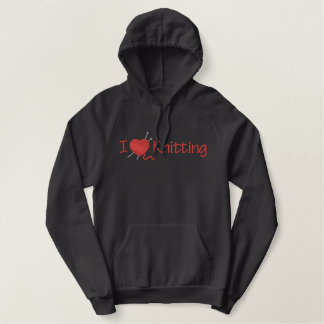 I Love Knitting Embroidered Hoodie