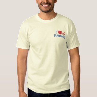 I Love Knitting Embroidered T-Shirt