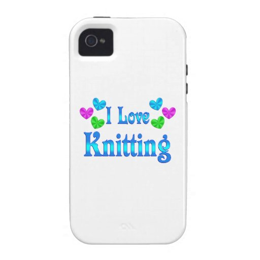 I Love Knitting iPhone 4 Covers