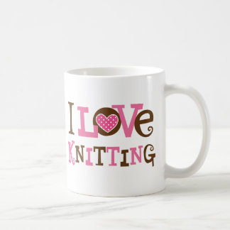 I Love Knitting (Knitter Gift) Coffee Mug