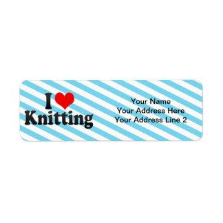 I Love Knitting Return Address Label