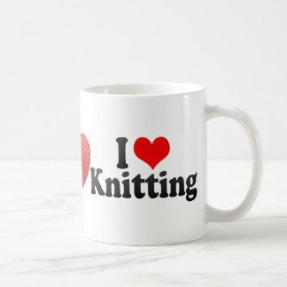 I Love Knitting Classic White Coffee Mug