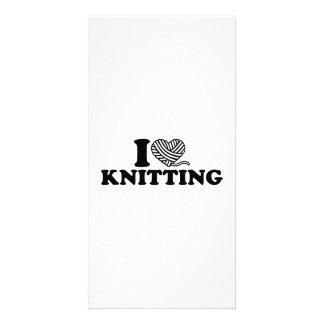 I love knitting photo card