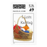 I love Knitting Postage stamps
