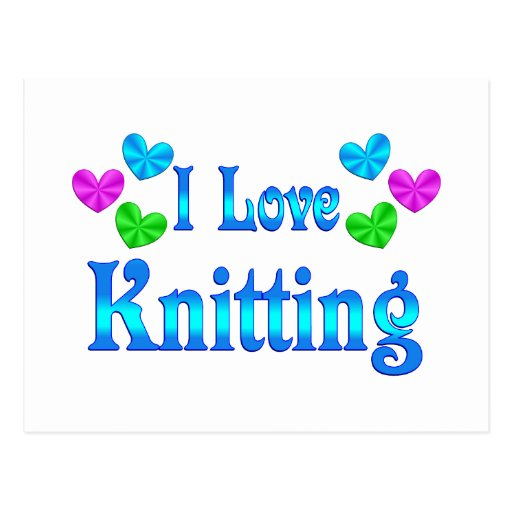 I Love Knitting Postcard