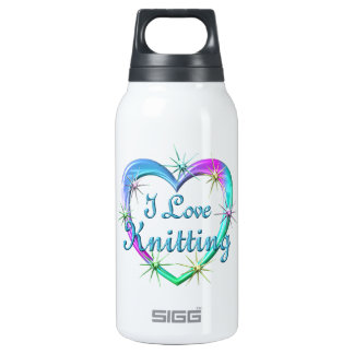 I Love Knitting 10 Oz Insulated SIGG Thermos Water Bottle
