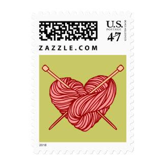 I Love Knitting Stamp
